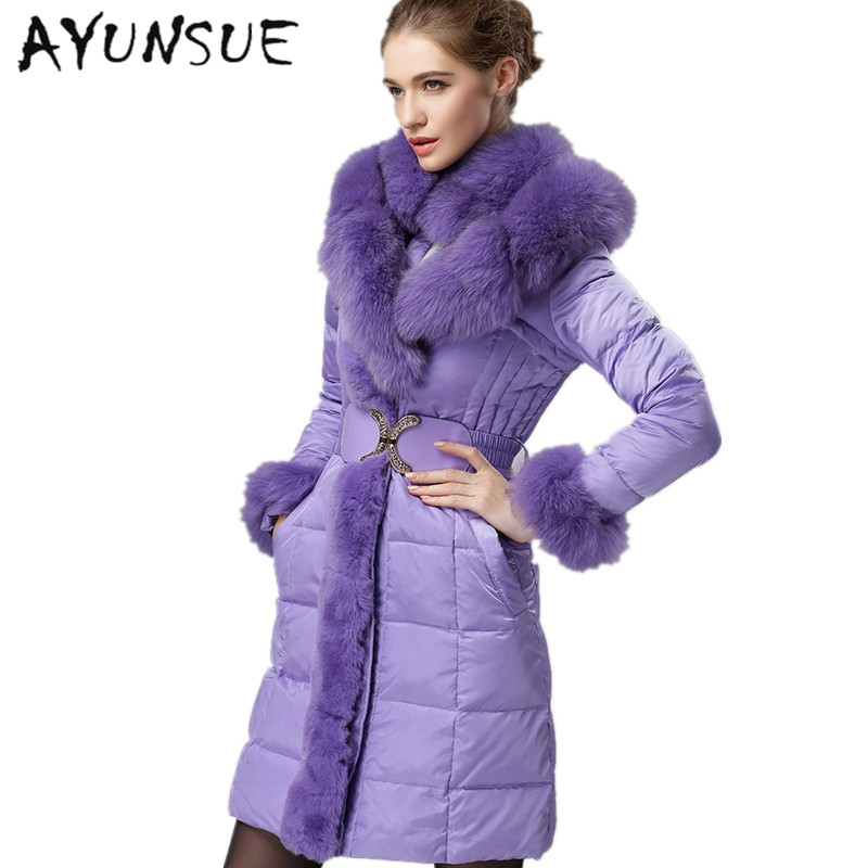 Black Femmes 90Duvet Plus Renard S Longue Taille blue Parka De Doudoune 2018 Real purple New European Luxury Fourrure Et Manteaux Brand Canard La 3xl Vestes S3459 On0vmN8w