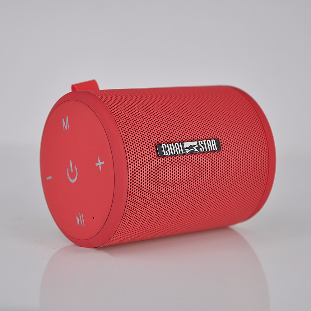 Chialstar Portable Speaker TWS Function Pair Box Bluetooth Speakers for Outdoor PC Computer mobile LED Red color