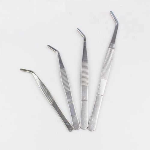 Various Lengths SS Medical Curved Tip Smooth Dressing Forceps Tweezers Labware