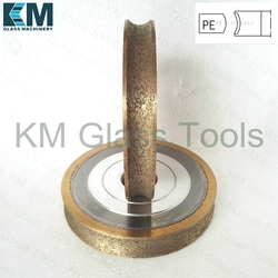Free Shipping!KM 100x22xPE3/4/5/6/8/10/12/15/19mm Pencil edge Peripheral Daimond wheels,For Glass grinding machine.