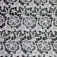 1 Yardas 91*130 cm, Tela Del Cordón Espinal Africano, off White Flower Tela de la Falda del Vestido de La Manera de Las Mujeres material de Costura del paño de La Boda Chal