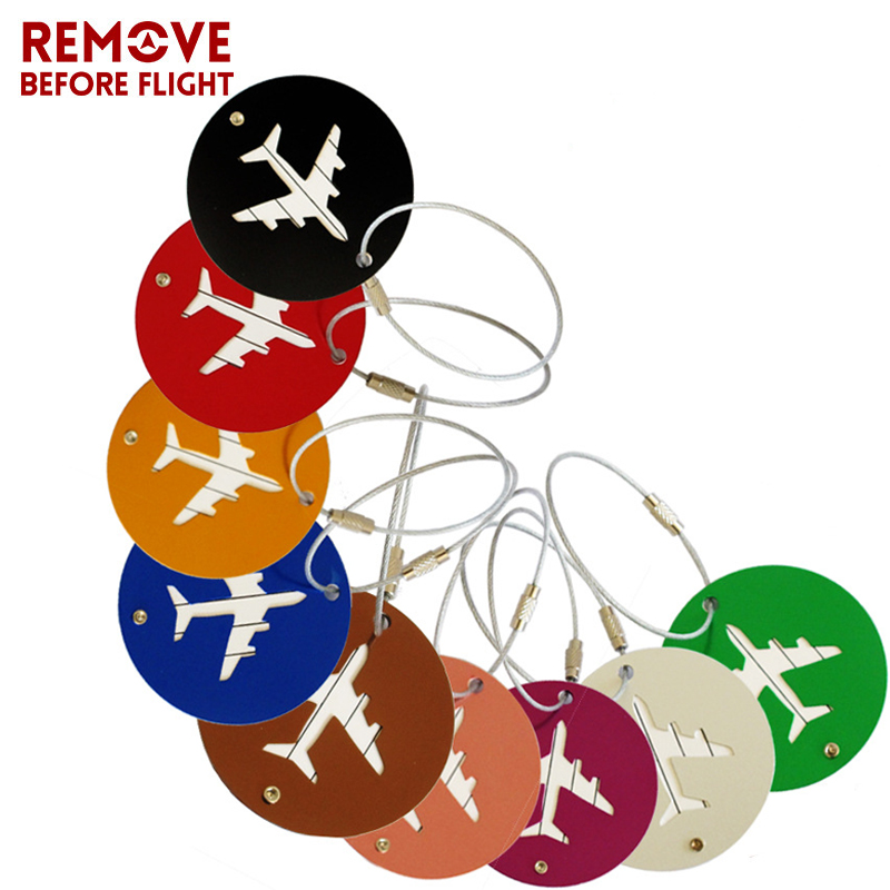 Key Smart EDC Pocket Organizer Aluminium Alloy Luggage Tag Travel Accessories Name Tags Suitcase Address Label Holder 5Pcs Mixed