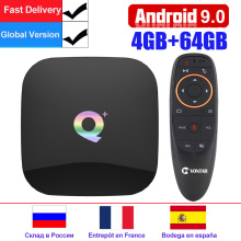 Q Plus Android 9,0 tv Box 6 K Smart tv Box 4 Гб ram 64 Гб Allwinner H6 четырехъядерный H.265 USD3.0 2,4G Wifi 4 K Google Playstore Youtube