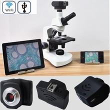 Promo offer 5MP HD Wireless WIFI Digital microscope USB Video camera Electronic Eyepiece electron microscope for binocular stereo microscope