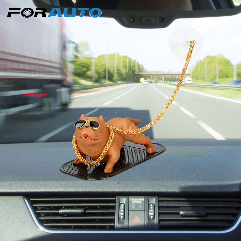 Car Ornament Car Styling Cool Fierce Dog Auto Interior Accessories Dashboard Decoration Creative Dog Doll Smoking Dog Resin|Ornaments| |  - title=
