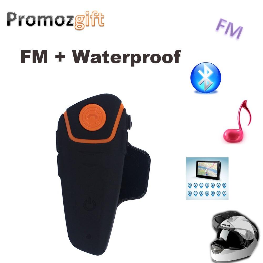 Bluetooth font b Helmet b font Intercom BT S2 IPX7 Waterproof BT 3 0 with FM