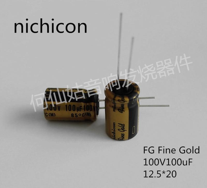 10pcs/20pcs NICHICON capacitance FG series 100v100uf 12.5*20 audio super capacitor electrolytic capacitors free shipping
