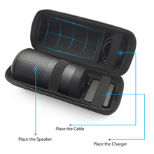 2019 חדש נסיעות מקרה עבור Bose Soundlink סובב מקרה EVA לשאת מגן רמקול תיבת פאוץ כיסוי שטח נוסף עבור תקע וכבלים