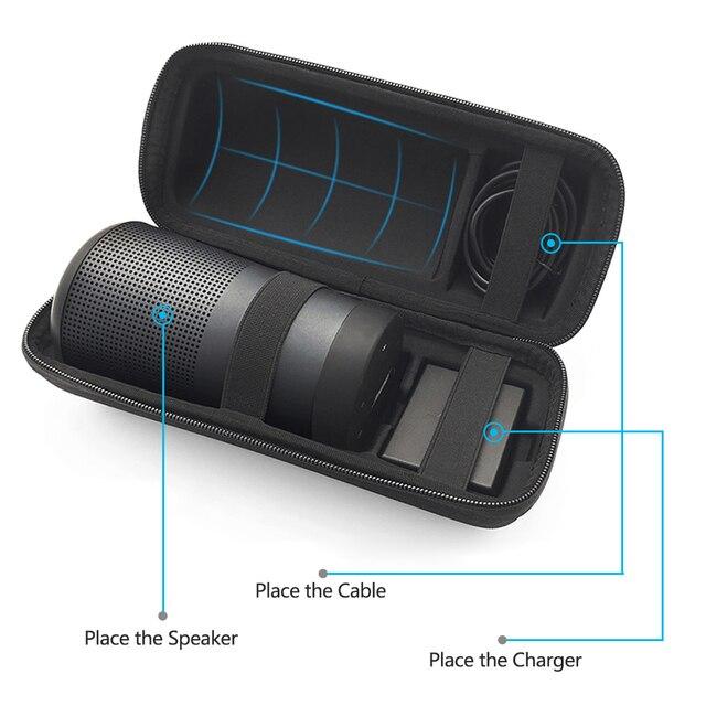Новинка 2019, чехол для путешествий для Bose Soundlink, чехол Вращающийся из ЭВА, защитный чехол для динамика, чехол с дополнительным пространством для разъемов и кабелей