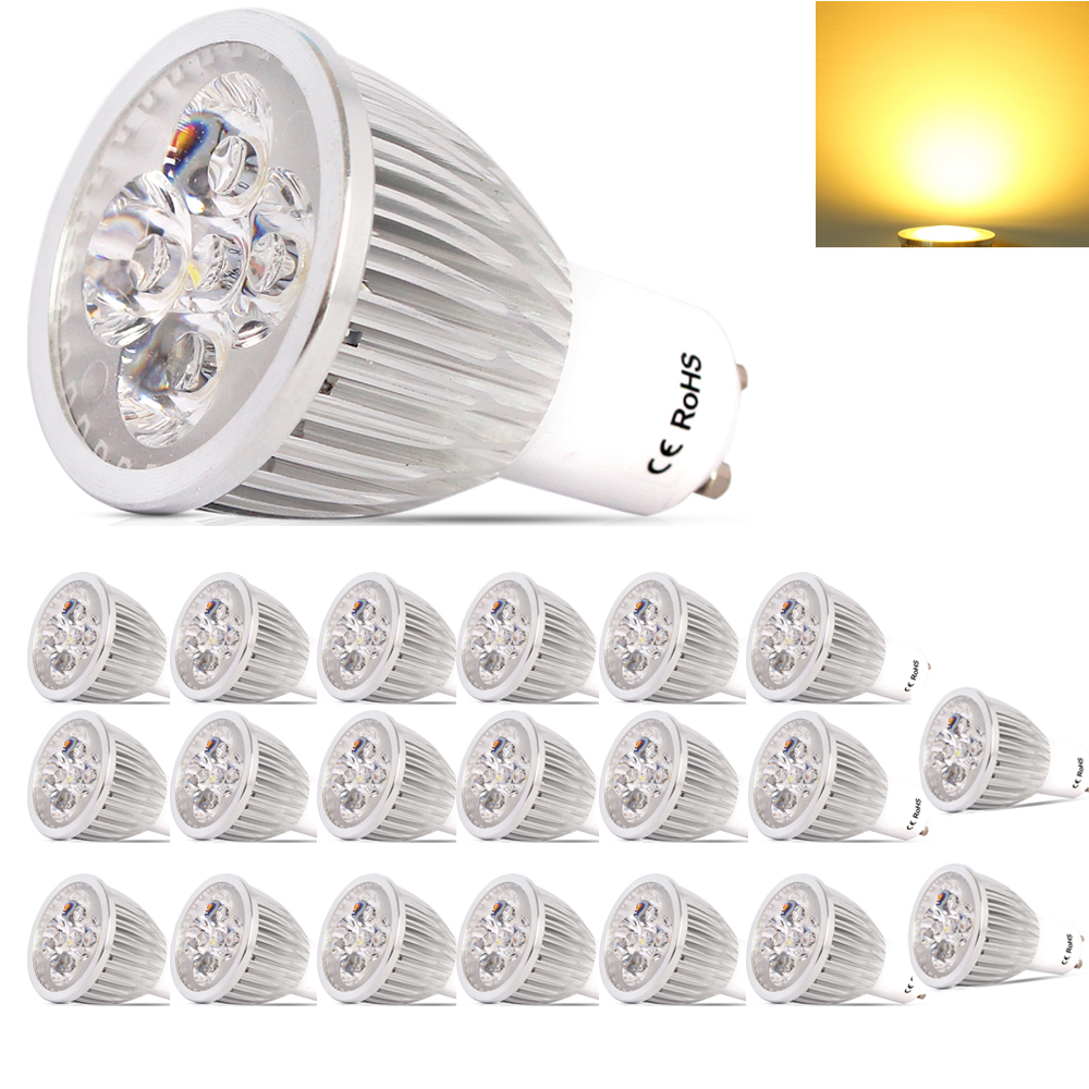 20X GU10 Dimmable Lamparas LED Lamp 220-240V Lampada LED Spotlight GU10 5W Spot LED Bulbs Lighting With Warm /Cold White zigbee bridge led rgbw 5w gu10 spotlight color changing zigbee zll led bulb ac100 240v led app controller dimmable smart led