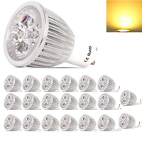 20X GU10 Dimmable Lamparas LED Lamp 220 240V Lampada LED Spotlight GU10 5W Spot LED Bulbs Lighting With Warm /Cold White