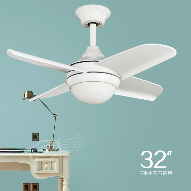 The Small White Ceiling Fan Light Simple Fashion Modern Fan Light - White kitchen ceiling fan with light