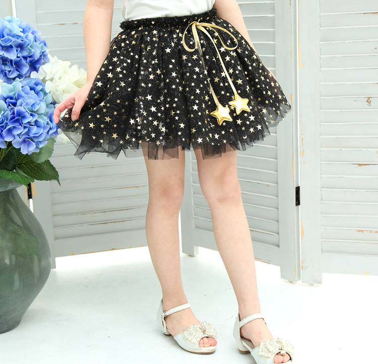 NEW spring autumn Baby Girl Clothes Girls Clothing full stars Sequins mini Skirt Casual school girls ball gown clothes for 4-10T (10)