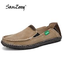 Summer Canvas Shoes Men Breathable Casual Shoes