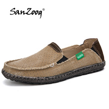 Summer Canvas Shoes Men Breathable Casual