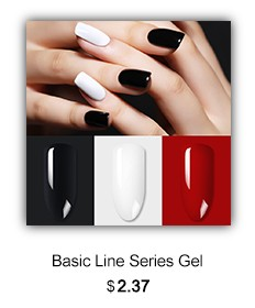 White Black Red Gel Polish