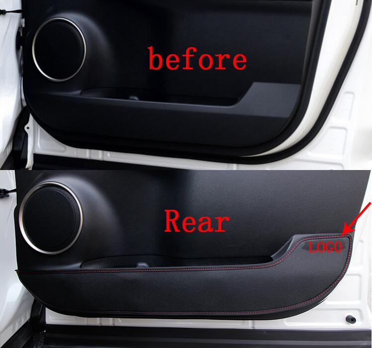 Car styling For LEXUS NX NX200T NX300H 2015 Inner Door protection protective pad kick pad 4pcs free shipping chromed abs plastic factory style 4pcs side door molding trim for lexus nx200t nx300h 2015 2016