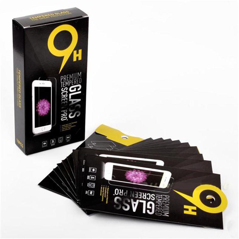 imágenes para 400 unids Vacías Cajas de Papel Paquete Al Por Menor 10 unids cada Embalaje de alta calidad de Cristal Templado 9 H Protector de Pantalla de Sony iphone samsung
