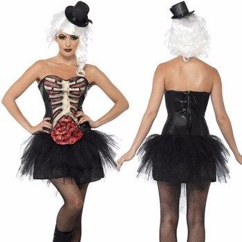 2018 nueva Halloween horror vestido de novia sexy ghost vampire de rol  partido negro princesa mascarada libre s 7713b5f84db0