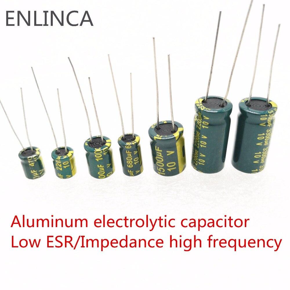 5-20pcs 10V 16V 25V 35V 50V Low ESR high frequency aluminum capacitor 2.2uf 4.7uf 6.8uf 10uf 22uf 33uf 68uf 82uf 120uf 150uf
