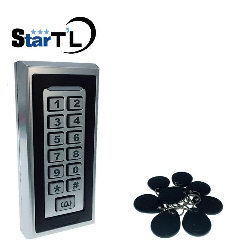 Trasporto Libero Tastiera Sistema di Controllo Accessi RFID Di Prossimità Carta Standalone 2000 Gli Utenti di Porta di Controllo di Accesso Impermeabile Opener