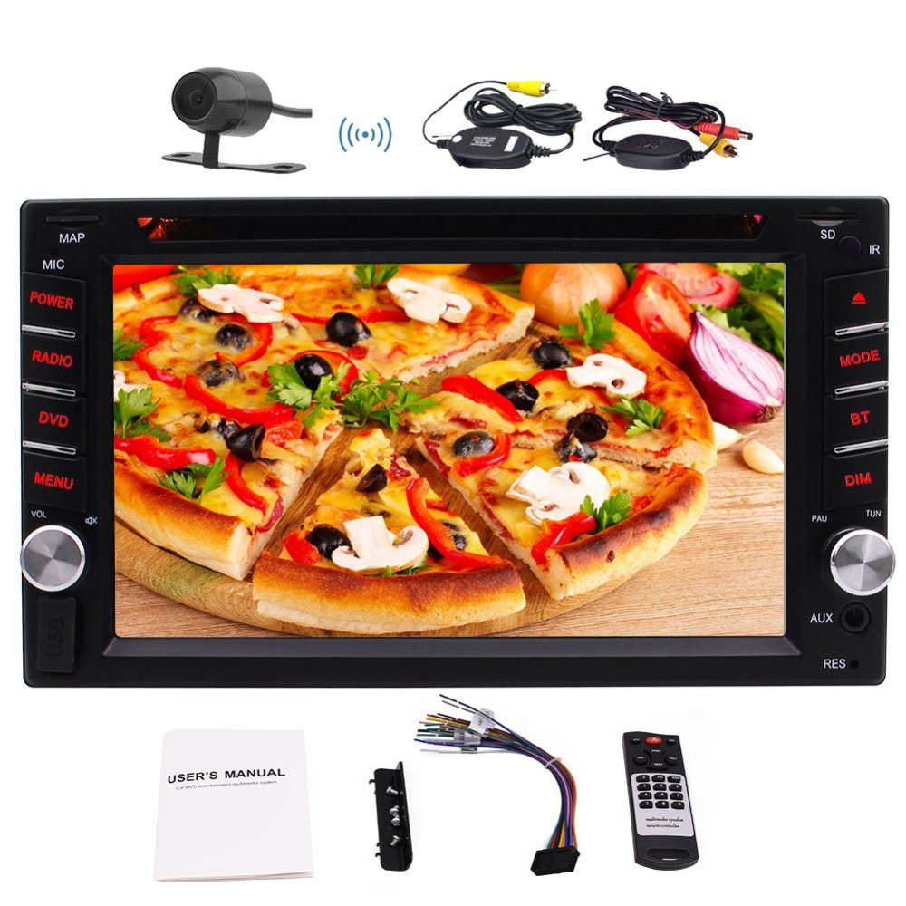 Eincar In-Dash 6.2'' Double Din Car Radio Stereo Receiver Vehicle Car DVD CD Player Headunit Bluetooth USB/SD+Wireless Camera free shipping car refitting dvd frame dvd panel dash kit fascia radio frame audio frame for 2012 kia k3 2din chinese ca1016