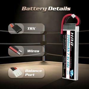 Image 4 - HRB Lipo 2S Pin 7.4V 2200MAh 50C Nổ 100C RC Pin Máy Bay Không Người Lái AKKU TRX XT60 T DEAN cho Traxxas 1:16 Chém E Revo Hội Nghị Thượng Đỉnh Biểu Tình