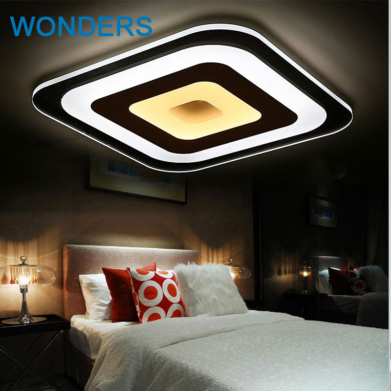 Modern thin fashionable Led Ceiling Lights plafon led Square Lamp Fixture  Indoor Lighting Living Room Bedroom Lamparas De Techo square white black modern led high quality ceiling lights for living study bedroom kids room ultra thin hot ceiling lamp fixture