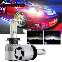 2017 1Pair H7 COB 72W Car Headlight 8000LM LED Fog Kit Car Beam Bulbs COB