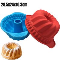 Free Shipping Big Round Shape Good Quality 100 Food Grade Silicone Cake Pan Silicone Cake Mould