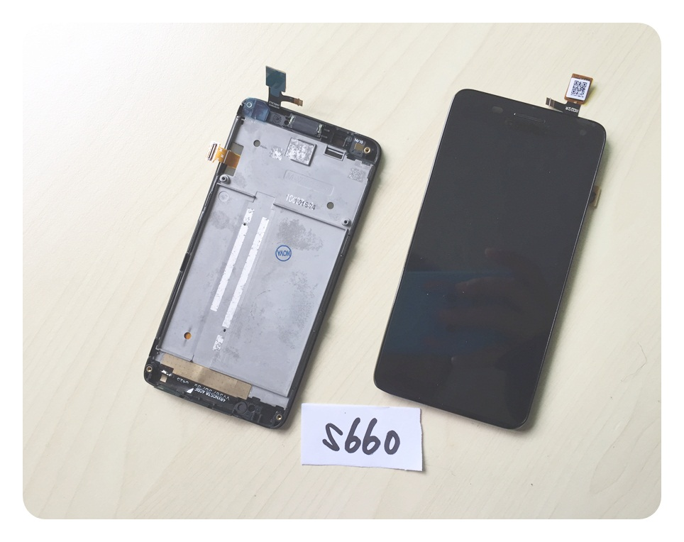 4.7 LCD Display For Lenovo S660 LCD Touch Screen Full Assembly With Frame + Free tracking