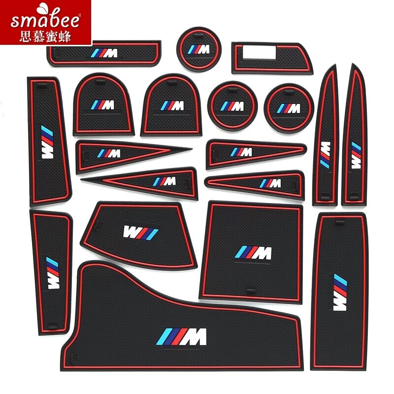 Smabee Non-slip Interior Cup Mat Door Gate Slot Mat For BMW s