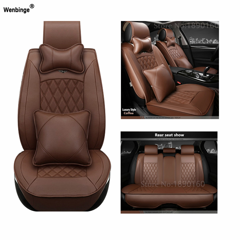 Universal PU Leather car seat covers For Cadillac SLS ATSL CTS XTS SRX CT6 ATS Escalade auto accessories car styling sticker