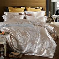 Home textile bedding set jacquard luxury cotton bed set bed cover flat sheet 4pcs/set Queen king duvet cover bedclothes home