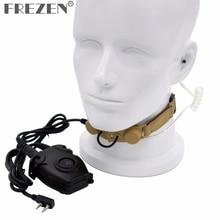 Z tático garganta microfone z003, headset com peltor ptt para kenwood rádio de duas vias baofeng UV 5R GT 3 UV 5X BF F8 retevis h777
