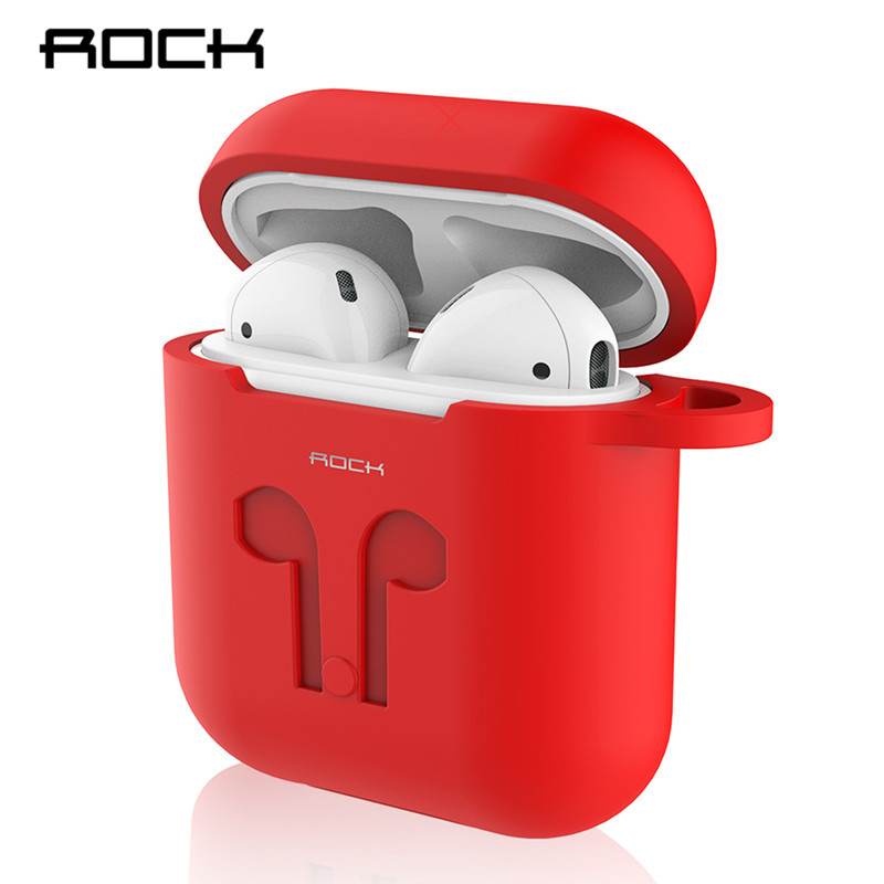 ROCK Protective Silicone Case Skin for Apple Airpods Carrying Case Wireless Bluetooth Earphone Accessories for Air Pods Case rockspace eb30