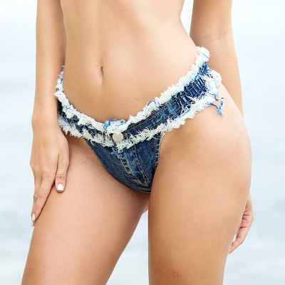 2018 Summer Shorts Jeans Sexy Bikini Bottom Cortos Mujer Denim Shorts Women Low Waist Skinny Jeans