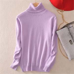 Image 5 - Cashmere sweater womens high collar women plus size winter knitted cashmere sweater for women warm sweaters Women
