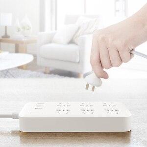Image 2 - 100% Оригинальный удлинитель XiaoMi для быстрой зарядки, 3 USB с 6 портами, 1,8 м, скрытая сигнальная лампа, штепсельная вилка, адаптер питания