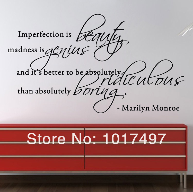 5 Styles Marilyn Monroe Wall Sticker Quotes Removable Art Vinyl Home Decor Marilyn Monroe Decals Free Shipping