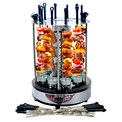 1PC Burn Oven Home Electric Automatic Rotation Roast Chicken BBQ Grill Automatic Electric Rotisserie Stainless Steel Material