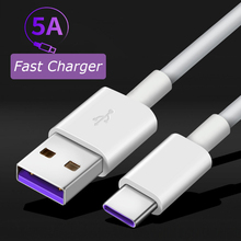 5A USB Type C Cable For Xiaomi Redmi Note 7 K20 Huawei P30 Fast Charging Type-C Phone Super charge Cabo Samsung S10 5G