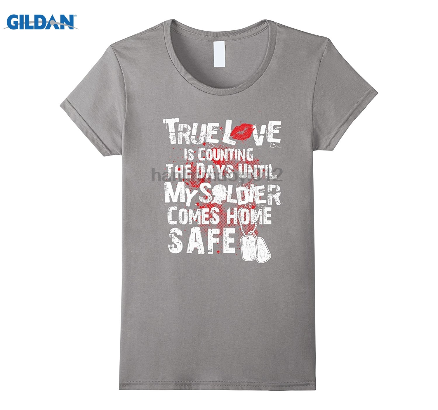 GILDAN Army Wife and Girlfriend T-Shirt - Until My Solider is Safe Womens T-shirt