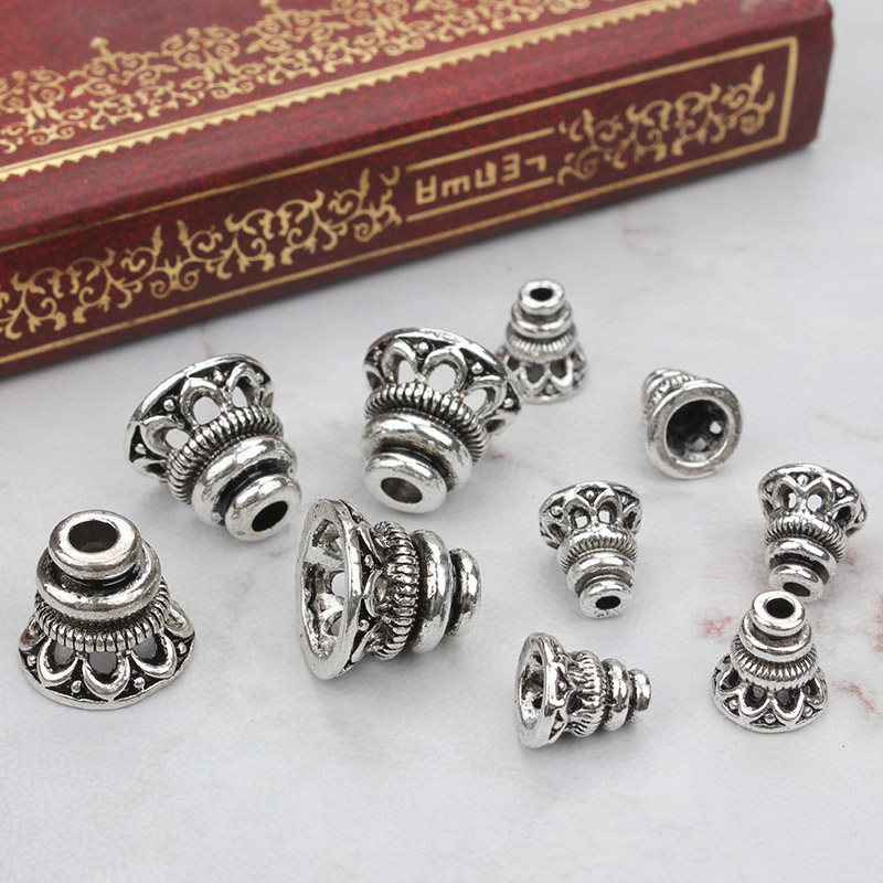 20pcs/lot Tibetan silver hollow receptacle bead caps for diy alloy jewelry accessories 20pcs lot ls30 to252