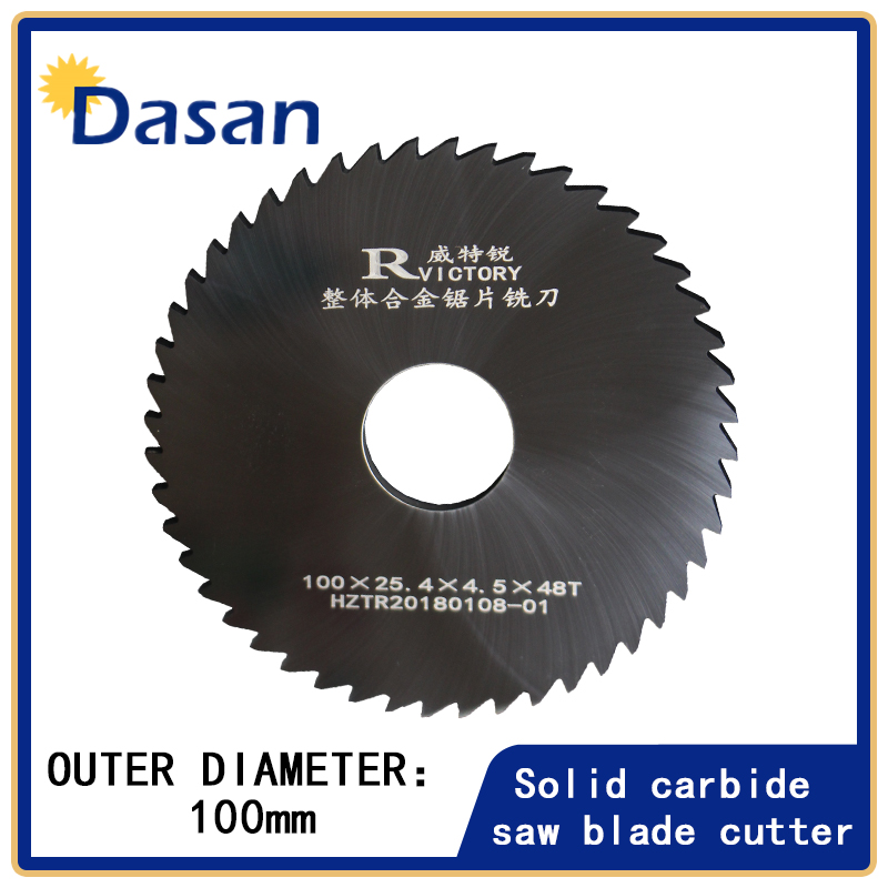 1PCS 100mm Milling Saw Blade Thick 0.7mm to 3mm 48TSolid Carbide Round Slitting Saw Cutter CNC Metal Milling Slotting Cutter 100mm x 14mm x 32mm 12 teeth hard alloy ripping sawblade milling slotting cutter
