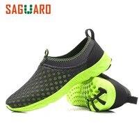 SAGUARO 2017 Breathable Shoes Plus Szie 3 5 10 5 Summer Beach Water Shoes Men Mesh