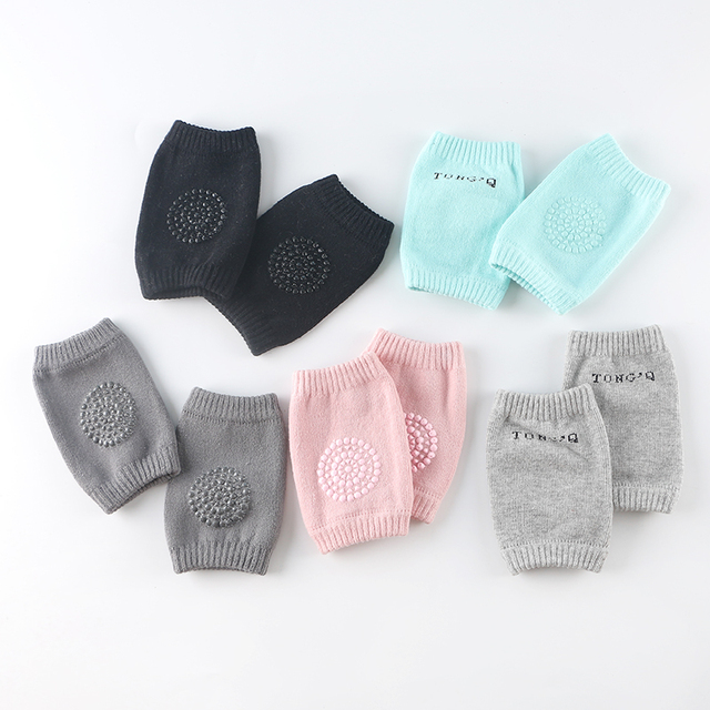1 pair Baby Knee Pad Kids Safety Crawling Albow Cushion Protect Baby Knee Cap Cotton Non-Slip Warm Thickening Socks Sheathed