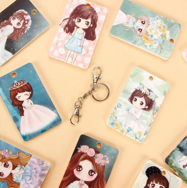Pretty Little Princess Silicone Card Cover Bus Bank Id Card Case Holder with Hasp