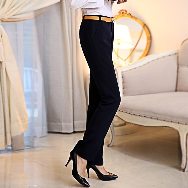Office Women Pants 2019 Summer Autumn Plus Size Lady Slim High Waist Black Korea OL Business Woman Female Wide Leg Trousers