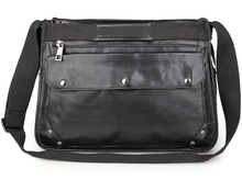Vintage Leather Handbags Large Size Sling Messenger Bag Crossbody Bag 7323